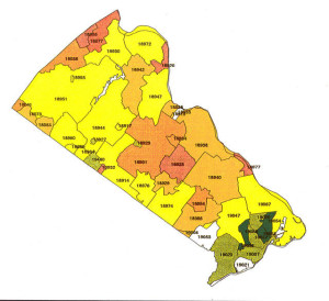 EPA Radon Info For Bucks And Montgomery Counties - Radon us map