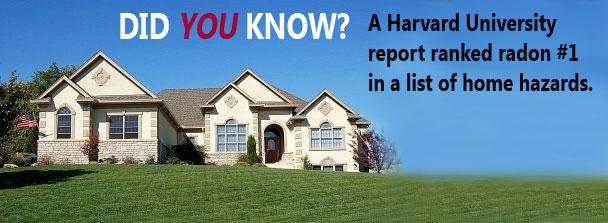 Radon #1 on list of home hazards